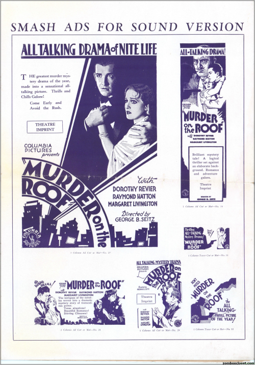 Murder on the Roof Pressbook 01