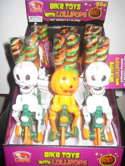 Halloween Bike Toys With Lollipops